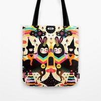 high Tote Bags featuring Flying High by Muxxi