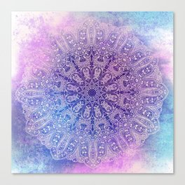 big paisley mandala in light purple Canvas Print