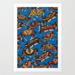 crabs blue Art Print