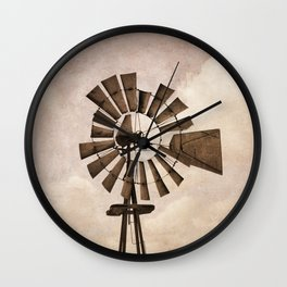 Iowa Windmill Wall Clock