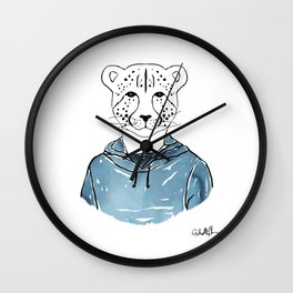 Callie the Cheeta (Color) Wall Clock