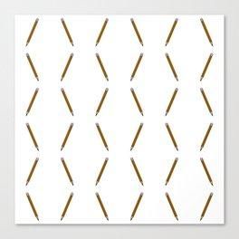 Pen Pattern - yellow Canvas Print