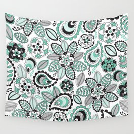 Aqua Paisley Wall Tapestry