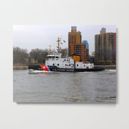 US Coast Guard 109, East River Metal Print