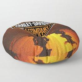 American Motorcycle Floor Pillow
