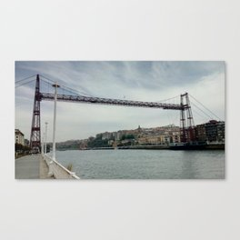 The Bizkaia suspension transporter bridge (Puente de Vizcaya) in Getxo, Spain Canvas Print