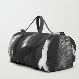Beautiful wild dolphins black and white Duffle Bag