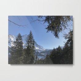 Swiss Mountains Grindelwald Metal Print