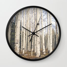 Trees of Reason - Birch Forest Wall Clock
