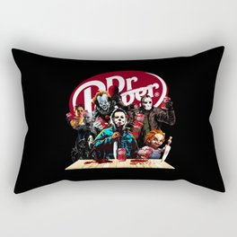 Funny Halloween Horror Characters Drinking Dr Pepper Rectangular Pillow