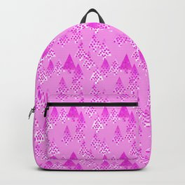 Modern Flower Christmas Trees, Orchid Pink Backpack