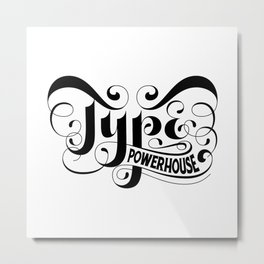 Type Powerhouse Inverted Metal Print