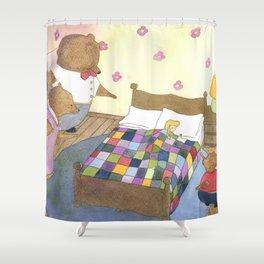 Goldilocks Caught Sleeping Shower Curtain