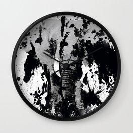 URBAN ELEPHANT INK SPLASH Wall Clock
