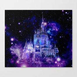 Celestial Palace : Purple Blue Enchanted Castle Canvas Print