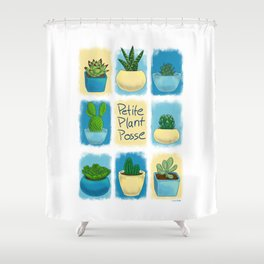 Petite Plant Posse Shower Curtain