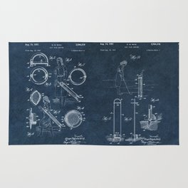 golf club carier WICK patent art Rug