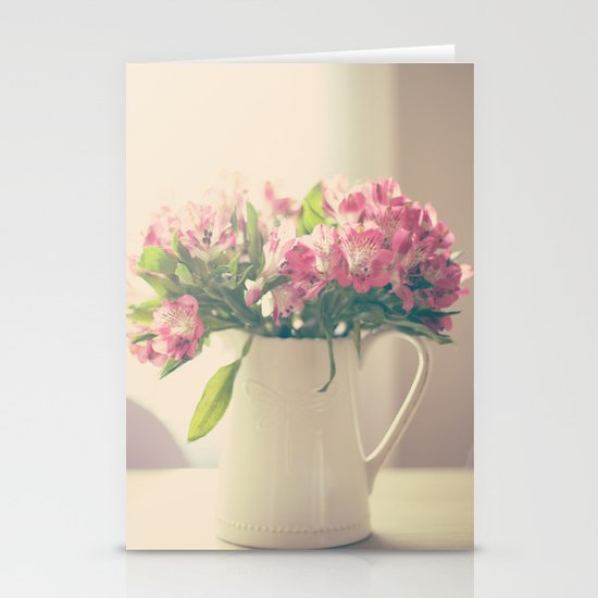 Mother's Flowers Arrangement  Stationery Cards