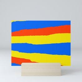 Orange Sun Blue Water Yellow Sand Mini Art Print