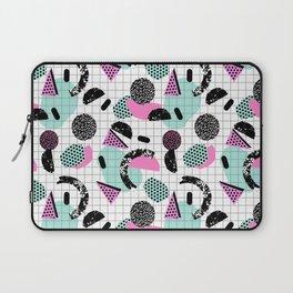 Joshin - memphis throwback retro pop art geoemetric pattern print unique trendy gifts dorm college Laptop Sleeve