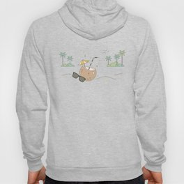 Sipping Coconut Water And Relaxing On The Beach Hoody