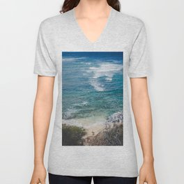 Surfer meets Sea - Diamond Head / Oahu / Hawaii Unisex V-Neck