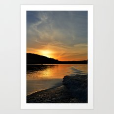 a sunset in your wake.  Art Print