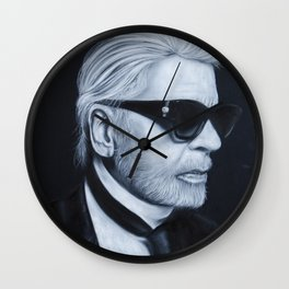 Karl Lagerfeld by chalk Wall Clock