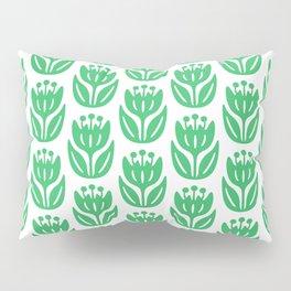 Mid Century Modern Flower Pattern Green 331 Pillow Sham