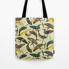 whales and waves bold Tote Bag