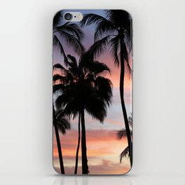 Tropical Palm Trees Sunset in Mexico iPhone Skin