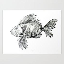 Trojan Fish Art Print