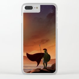 Greek Warrior Watches for Ships Clear iPhone Case