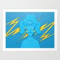 zappa Art Prints featuring Zappa by freefallflow