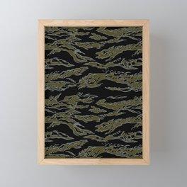 Tiger Camo Framed Mini Art Print