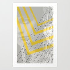 Lady in lines Art Print
