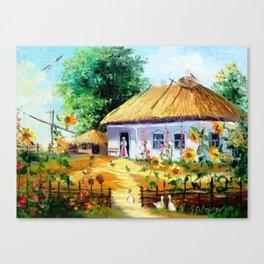 Ukrainian village Canvas Print