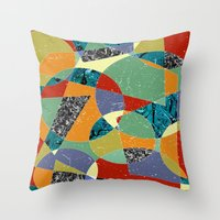 the 100 Throw Pillows featuring Abstract #100 by Ron Trickett