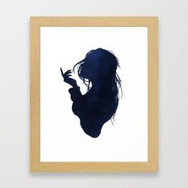 Sea breeze silhouette Framed Art Print