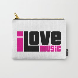I Love Music Quote Carry-All Pouch