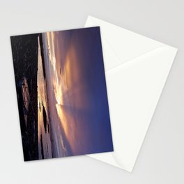 Beams of Light across the Sky Stationery Cards
