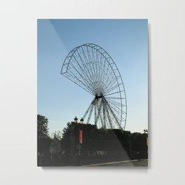 Building a giant wheel Metal Print