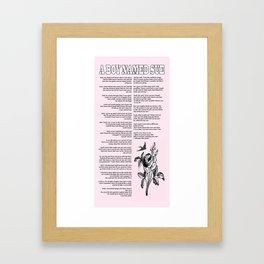 A boy named Sue Framed Art Print
