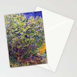 "Vincent van Gogh ""Lilac Bush"" Stationery Cards"