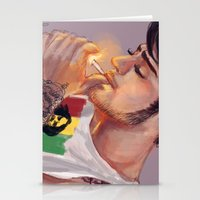 smoking Stationery Cards featuring Smoking by justsomestuff