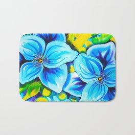 Blue Poppies 3 Bath Mat