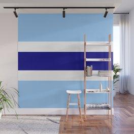 Horizontal stripes 4 Dark blue and light blue Wall Mural