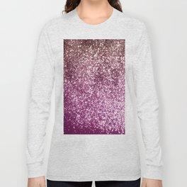 Sparkling BLACKBERRY CHAMPAGNE Lady Glitter #1 #decor #art #society6 Long Sleeve T-shirt
