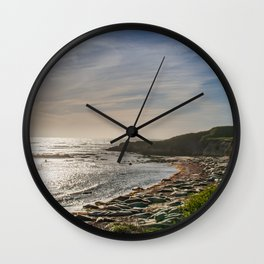 Sunstar at Ano Nuevo State Reserve California Wall Clock
