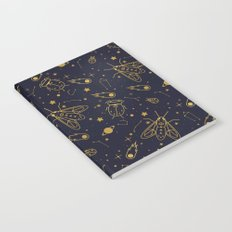 Golden Celestial Bugs Notebook